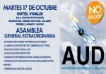Asamblea extraordinaria el martes 17 de Octubre
